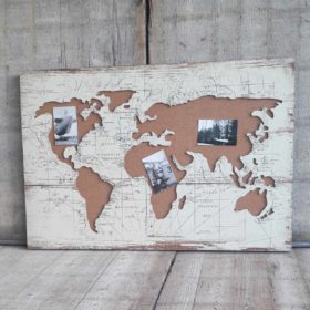 Memobord wereldkaart