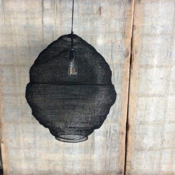 Visnet lamp zwart